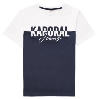 Υφασμάτινα Αγόρι T-shirt με κοντά μανίκια Kaporal JILEY Άσπρο