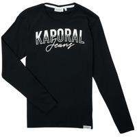 Υφασμάτινα Αγόρι Μπλουζάκια με μακριά μανίκια Kaporal JODLE Black