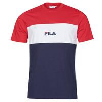 Υφασμάτινα Άνδρας T-shirt με κοντά μανίκια Fila ANOKI Red / Marine / Άσπρο
