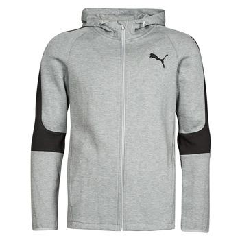 Υφασμάτινα Άνδρας Φούτερ Puma EVOSTRIPE CORE FZ HOODIE Grey / Black