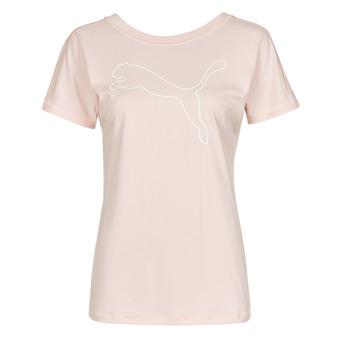 Υφασμάτινα Γυναίκα T-shirt με κοντά μανίκια Puma TRAIN FAVORITE JERSEY CAT TEE Ροζ