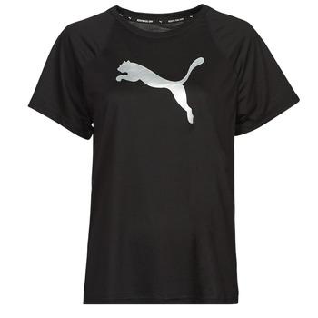Υφασμάτινα Γυναίκα T-shirt με κοντά μανίκια Puma EVOSTRIPE TEE Black