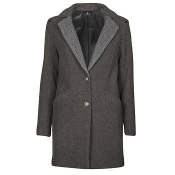 Υφασμάτινα Γυναίκα Παλτό One Step FT44061 Kaki / Grey