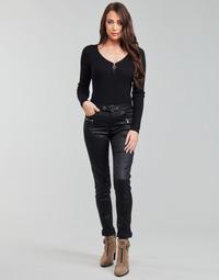 Υφασμάτινα Γυναίκα Παντελόνια Πεντάτσεπα Morgan PBIKER Black
