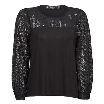 Υφασμάτινα Γυναίκα Μπλουζάκια με μακριά μανίκια Deeluxe FRIDA Black