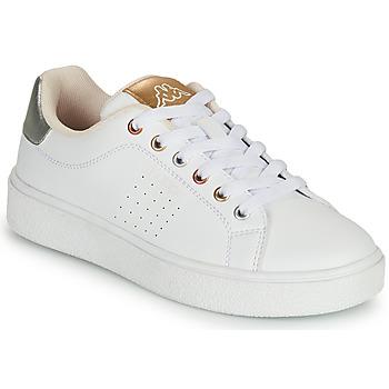 Παπούτσια Κορίτσι Χαμηλά Sneakers Kappa SAN REMO Άσπρο / Gold / Silver