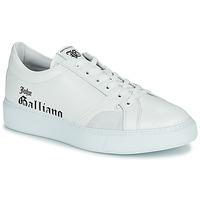 Παπούτσια Άνδρας Χαμηλά Sneakers John Galliano MISSISSIPPI Άσπρο