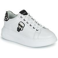 Παπούτσια Γυναίκα Χαμηλά Sneakers Karl Lagerfeld KAPRI KARL IKONIC STUD TAB Άσπρο