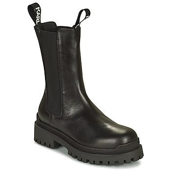 Παπούτσια Γυναίκα Μπότες Karl Lagerfeld BIKER II LONG GORE BOOT Black