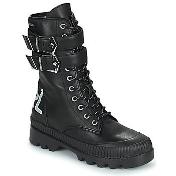 Παπούτσια Γυναίκα Μπότες Karl Lagerfeld TREKKA II HI CUFF BUCKLE BOOT Black