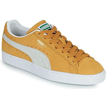 Παπούτσια Χαμηλά Sneakers Puma SUEDE Yellow / Άσπρο