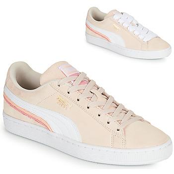 Παπούτσια Γυναίκα Χαμηλά Sneakers Puma SUEDE TRIPLEX Ροζ / Άσπρο
