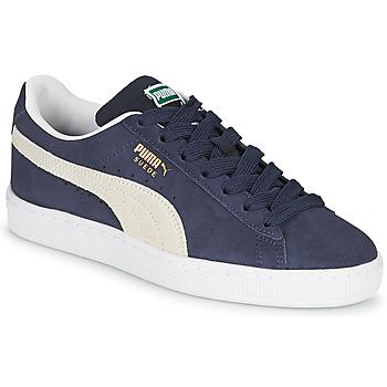 Παπούτσια Παιδί Χαμηλά Sneakers Puma SUEDE JR Μπλέ / Άσπρο