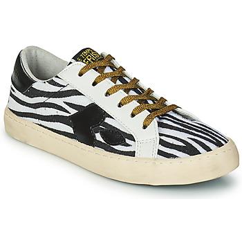Παπούτσια Γυναίκα Χαμηλά Sneakers Le Temps des Cerises AUSTIN Άσπρο / Black
