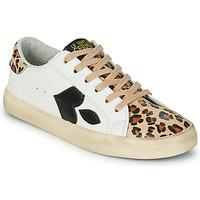 Παπούτσια Γυναίκα Χαμηλά Sneakers Le Temps des Cerises AUSTIN Άσπρο / Leopard