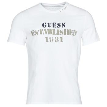 Υφασμάτινα Άνδρας T-shirt με κοντά μανίκια Guess WORKFOR CN SS TEE Άσπρο