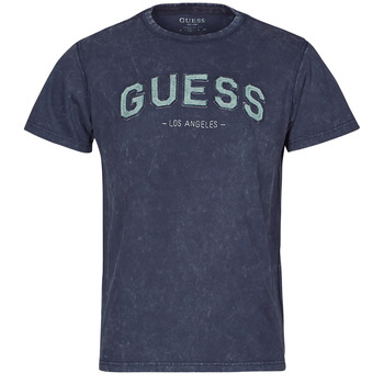 Υφασμάτινα Άνδρας T-shirt με κοντά μανίκια Guess GUESS COLLEGE CN SS TEE Marine