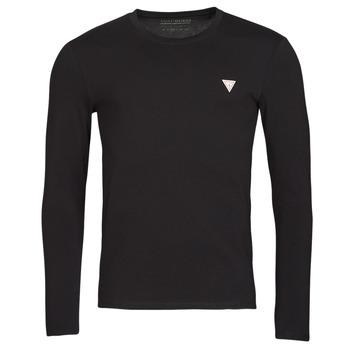 Υφασμάτινα Άνδρας Μπλουζάκια με μακριά μανίκια Guess CN LS CORE TEE Black