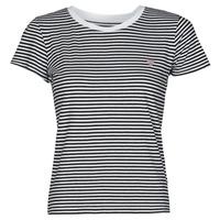Υφασμάτινα Γυναίκα T-shirt με κοντά μανίκια Guess ES SS GUESS LOGO BABY TEE Black / Άσπρο