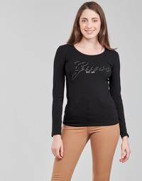 Υφασμάτινα Γυναίκα Μπλουζάκια με μακριά μανίκια Guess LS CN RAISA TEE Black