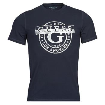 Υφασμάτινα Άνδρας T-shirt με κοντά μανίκια Guess DOUBLE G CN SS TEE Marine