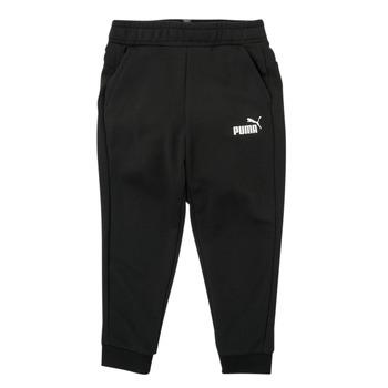 Υφασμάτινα Αγόρι Φόρμες Puma ESSENTIAL SLIM PANT Black