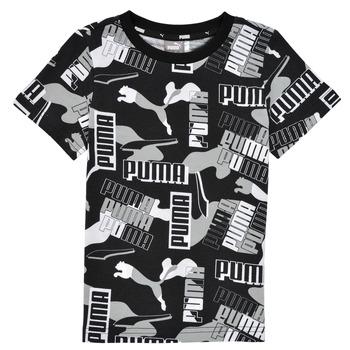 Υφασμάτινα Αγόρι T-shirt με κοντά μανίκια Puma ALPHA AOP TEE Black