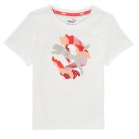 Υφασμάτινα Κορίτσι T-shirt με κοντά μανίκια Puma ALPHA TEE Άσπρο