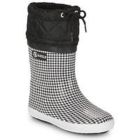 Παπούτσια Κορίτσι Snow boots Aigle GIBOULEE PRINT Black / Άσπρο