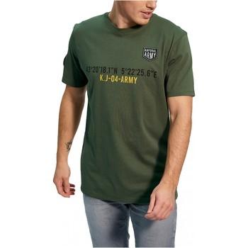 Υφασμάτινα Άνδρας T-shirt με κοντά μανίκια Kaporal TEFAR Green