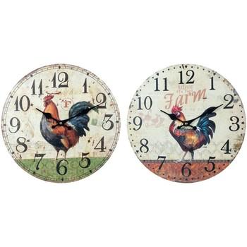 Σπίτι Ρολόγια τοίχου Signes Grimalt Ρολόι Τοίχου Gallo Set 2U Multicolor