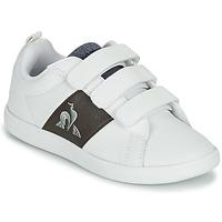 Παπούτσια Παιδί Χαμηλά Sneakers Le Coq Sportif COURTCLASSIC PS Άσπρο / Brown