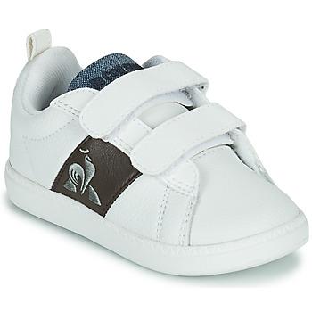 Παπούτσια Παιδί Χαμηλά Sneakers Le Coq Sportif COURTCLASSIC INF Άσπρο / Brown