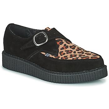 Παπούτσια Derby TUK POINTED CREEPER MONK BUCKLE Black / Leopard