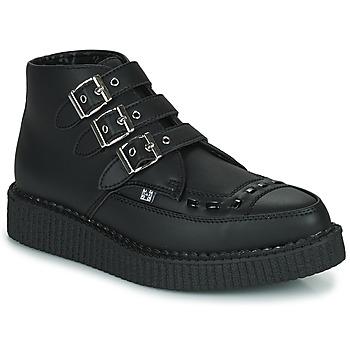 Παπούτσια Μπότες TUK POINTED CREEPER 3 BUCKLE BOOT Black