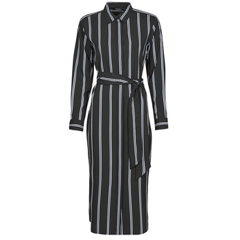 Υφασμάτινα Γυναίκα Μακριά Φορέματα Lauren Ralph Lauren RYNETTA-LONG SLEEVE-CASUAL DRESS Black