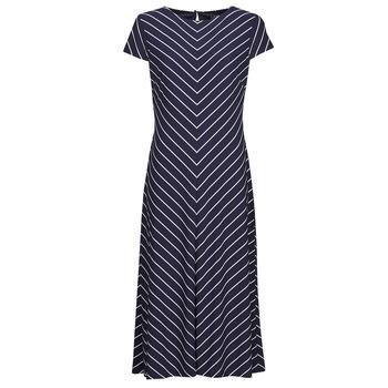 Υφασμάτινα Γυναίκα Μακριά Φορέματα Lauren Ralph Lauren PIPPA-CAP SLEEVE-DAY DRESS Μπλέ