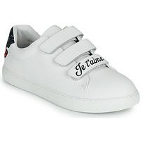 Παπούτσια Γυναίκα Χαμηλά Sneakers Bons baisers de Paname EDITH JE T AIME MOI NON PLUS Άσπρο