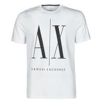 Υφασμάτινα Άνδρας T-shirt με κοντά μανίκια Armani Exchange HULO Άσπρο