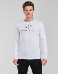 Υφασμάτινα Άνδρας Μπλουζάκια με μακριά μανίκια Armani Exchange 8NZTCH Άσπρο