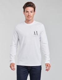 Υφασμάτινα Άνδρας Μπλουζάκια με μακριά μανίκια Armani Exchange 8NZTPL Άσπρο