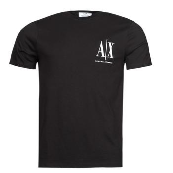 Υφασμάτινα Άνδρας T-shirt με κοντά μανίκια Armani Exchange 8NZTPH Black