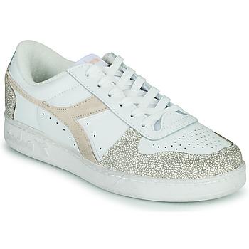 Xαμηλά Sneakers Diadora MAGIC BASKET LOW ICONA WN ΣΤΕΛΕΧΟΣ: Δέρμα & ΕΠΕΝΔΥΣΗ: Ύφασμα & ΕΣ. ΣΟΛΑ: Ύφασμα & ΕΞ. ΣΟΛΑ: Καουτσούκ