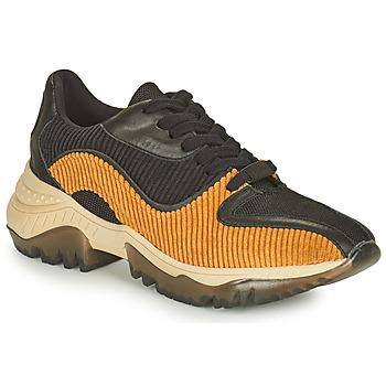 Παπούτσια Γυναίκα Χαμηλά Sneakers Castaner ORIENTE Black / Cognac