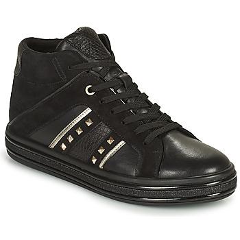 Ψηλά Sneakers Geox LEELU ΣΤΕΛΕΧΟΣ: Δέρμα / ύφασμα & ΕΠΕΝΔΥΣΗ: Συνθετικό και ύφασμα & ΕΣ. ΣΟΛΑ: Δέρμα βοοειδούς & ΕΞ. ΣΟΛΑ: Συνθετικό