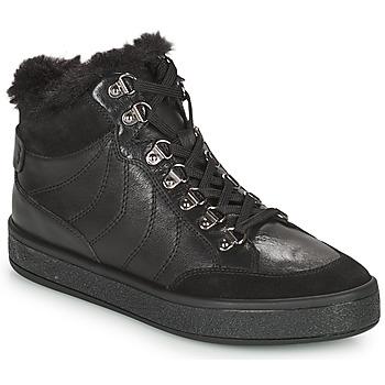 Παπούτσια Γυναίκα Μπότες Geox LEELU Black