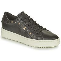 Παπούτσια Γυναίκα Χαμηλά Sneakers Geox PONTOISE Black / Gold