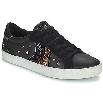 Παπούτσια Γυναίκα Χαμηλά Sneakers Geox WARLEY Black / Gold