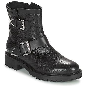 Παπούτσια Γυναίκα Μποτίνια Geox HOARA Black