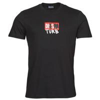 Υφασμάτινα Άνδρας T-shirt με κοντά μανίκια Diesel T-DIEGOS-B10 Black